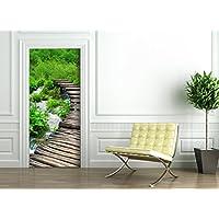 Poster Autoadesivo porta e pareti - VIA VERDE - murale foglio di porta