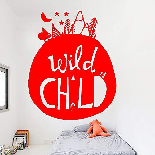 zqyjhkou Vinyl Aufkleber Berg Mond Wandaufkleber Moderne Innen Kunst Wanddekoration Für Kinderzimmer Vinyl Kunst Aufkleber 4 L 43 cm X 53 cm