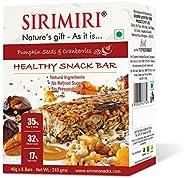 Sirimiri Nutrition Bar - Pumpkin Seeds & Cranberries - Pack Of 6 (Each 40 Gm) No Added Sugar, No Preservat