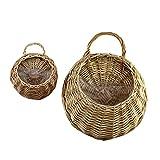 Hete-supply Handmade Woven Hanging Basket mit Rattan-Korb, Weide Korb Flower Pot Rustic Rattan Korb, zum Aufhängen und für die Tropfen Vase Behälter für Zuhause, Garten-, Wand Dekoration a