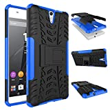Noise Rugged Dual Layer Kickstand Hybrid Warrior Case Back Cover for Sony Xperia C5 - Blue
