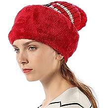 Cappello Passamontagna Donna Bambina Lana in Maglia Invernali - Berretto 3  in 1 Balaclava Maschera Knit f638ae21d2b2