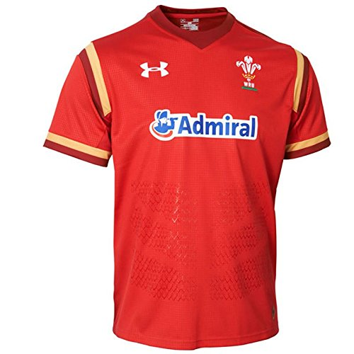 Under Armour Wales WRU 2016/17 Home Replica Rugby Shirt - Red/Gold