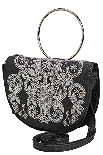 next Donna Borsa A Tracolla Con Anello Decorato Nero