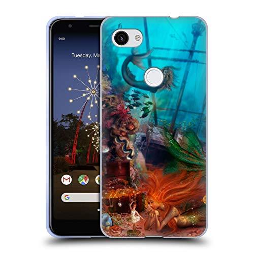 Head Case Designs Offizielle Aimee Stewart Schatz Der Meerjungfrau Fantasie Soft Gel Huelle kompatibel mit Google Pixel 3a XL -
