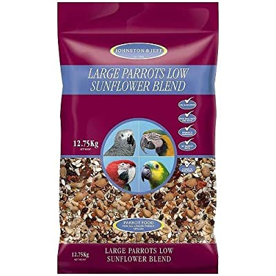 Johnston & Jeff Low Sunflower for Large Parrot Bird, 12.75 kg by Johnston & Jeff