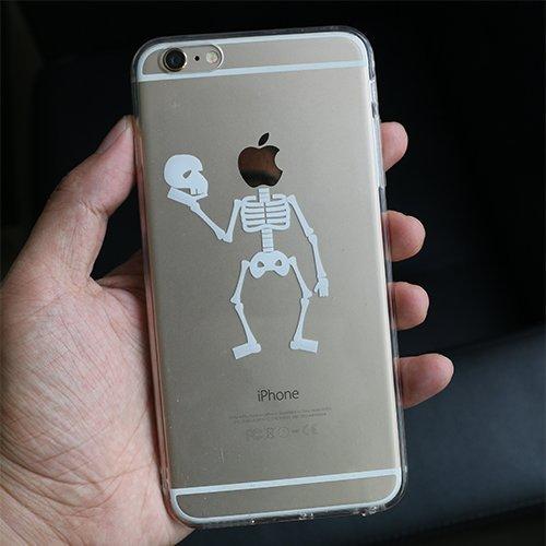 Coque iPhone 6S Plus, TrendyBox PC Hard Cover avec soft TPU Pare-chocs pour iPhone 6/6S Plus (Chouette et Rose Arbre) Crâne