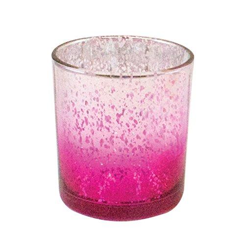 Beachcombers Pink Ombre Glas Votiv Kerzenhalter-Set von 2