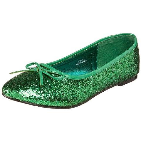 Funtasma Women's Star-16G Ballet Flats, Green (Green Gltr), 7 UK 40 EU