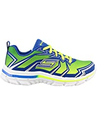 Skechers Nitrate-95364L Boys' Toddler-Youth Sneaker 13 M US Little Kid Lime-Blue