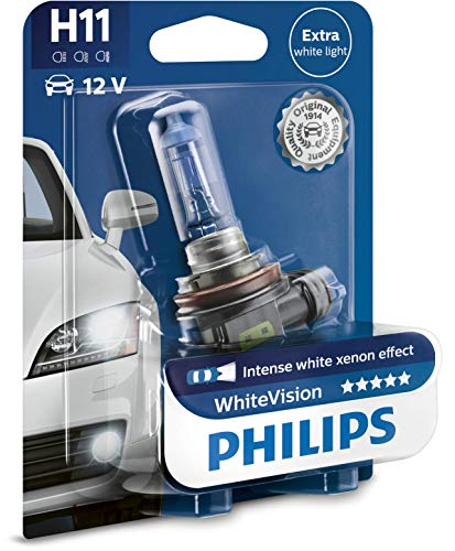 Philips WhiteVision Xenon-Effekt H11 Scheinwerferlampe 12362WHVB1, Einzelblister Visionen-reihe