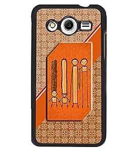 Printvisa 2D Printed Cartoon Designer back case cover for Samsung Galaxy Core 2 G355H- D4576
