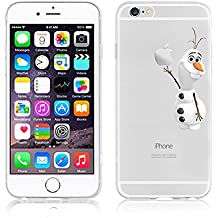 NEW DISNEY CARTOONS TRANSPARENT CLEAR TPU SOFT CASE FOR APPLE IPHONE 6/6S OLAF