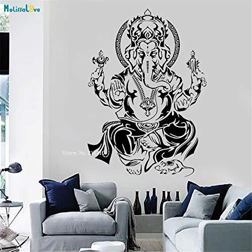Indischer Elefant Wandaufkleber Vinyl Aufkleber Hinduismus Kunst Spirituelle Dekorationen für Zuhause Meditationsraum Yoga Decor 3 70 * 98 cm