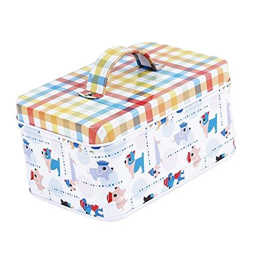 Non-brand Niedlichen Tier Stil Metall Cookie Süßigkeiten Nuss Geschenkdose Box - Hund -