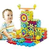 Rokoo 81 Unids Engranajes Eléctricos de Plástico Rompecabezas 3D Kits de Construcción Ladrillos Juguetes Educativos Para Niños Regalos de Los Niños