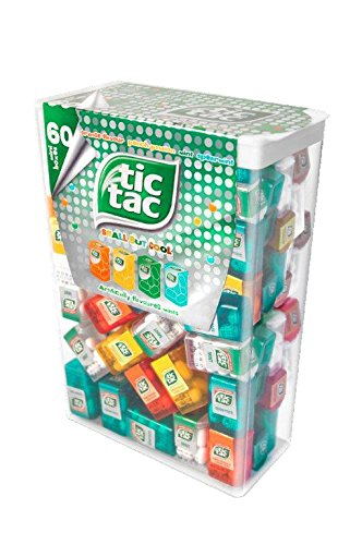 Preisvergleich Produktbild TIC TAC Box with 60 Mini Boxes (each 3.9 GRAMS),  ARTIFICIALLY FLAVOURED MINTS