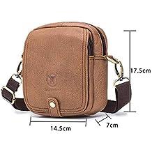 8199a29f0 HHF bolsos de hombro y bolsos Bolso bandolera de cuero para hombres  Deportes, multifunción,