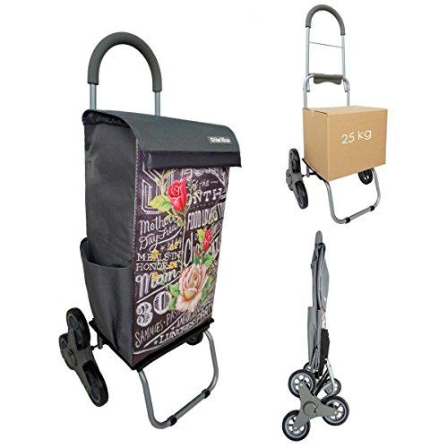 Einkaufstrolley Treppensteiger Bo Time - Doppelte Nutzung - 40L Kapazität