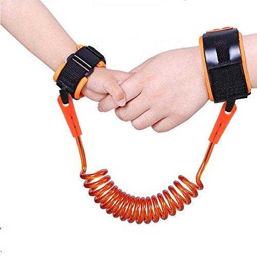 ebuybox® Orange Baby Anti-verloren Guertel Baby Kinder Safty Anti Lost Walking Hand Guertel Handgelenk Link Bungee Leine Sicherheit Kleinkind Harness Reisen Hilfer
