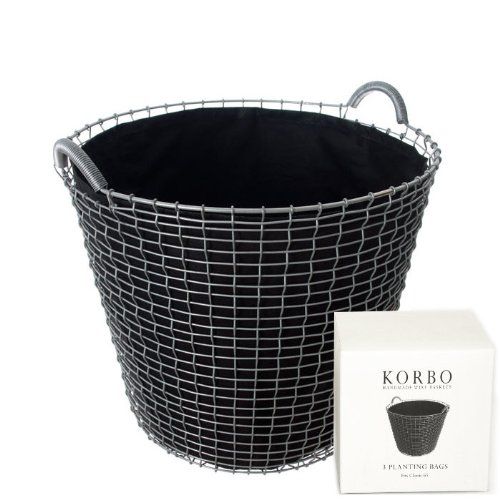 KORBO Plantingbags 65l - 3-Pack 155x155x65 mm [W]
