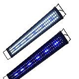 Aquarien Eco Aquarium Beleuchtung Fisch Tank Aufsetzleuchte Blau Weiß LED Lampe Leuchte 75cm 27W A105