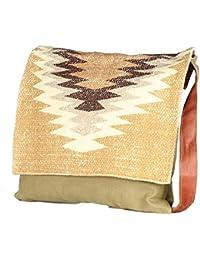 Beautiful Flap Cross Body Handmade Rug Shoulder Bag Stylish Shopping Casual Bag Foldaway Travel Bag