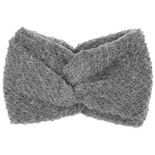 Mohair Wool Blend Stirnband Headband Mohairwolle Ohrenwärmer Ohrenschutz Headband Ohrenwärmer (One Size - grau)