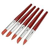 5 piezas de color rojo de gran tamaño con punta de goma Pintar arcilla Formando modelado...