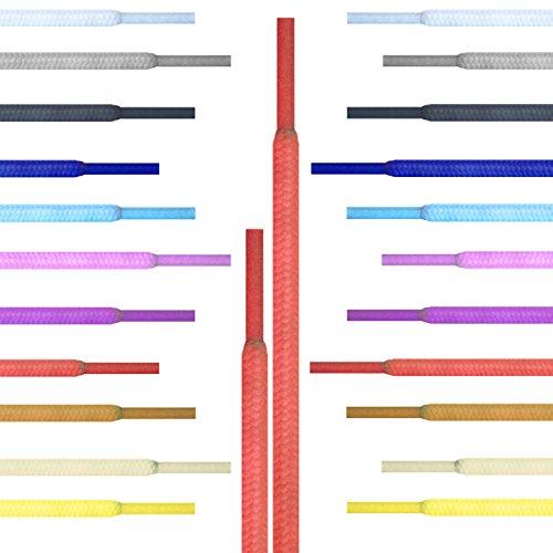 Runde Schnürsenkel Giftware Turnschuhe, Hi-tops Fußballschuhe Laces Schnürsenkel, geeignet für alle Marken, darunter Nike Adidas Converse Puma Vans Reebok Dr Martens Erwachsene oder Kinder