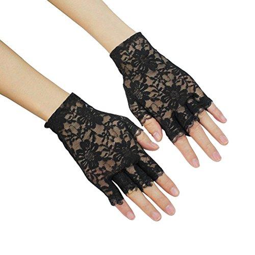 WINOMO Ein Paar der Spitze Fingerlose Handschuhe Gothic Handgelenk Hochzeit Party Handschuhe ()
