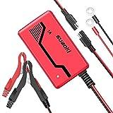 SUAOKI Batterie Ladegerät 6V/12V 1.0A, Autobatterie Ladegeräte für KFZ PKW Auto Motorrad