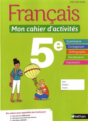 Français 5e Mon cahier d'activités