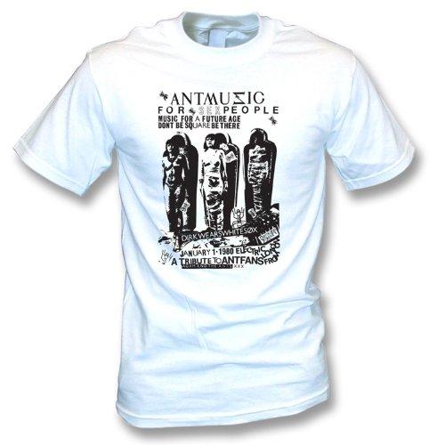 adam-e-la-maglietta-xx-grande-colore-bianco-del-manifesto-di-musica-della-formica-delle-formiche