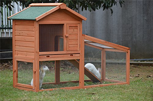 BUNNY BUSINESS Rabbit Hutch with Integrated Run and Enclosure, Rabbit Hutches Rabbit Runs 140 x 65 x 100 cm (COVER ONLY) 5