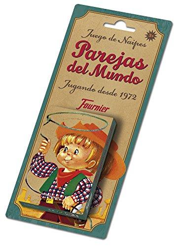 Fournier - Baraja infantil con 40 cartas, diseño Parejas del Mundo (F23803)