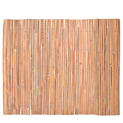 vidaXL Bambusmatte Bambus 100x400 cm Sichtschutzmatte Sichtschutz Gartenmatte