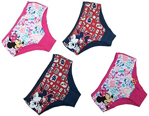 Minnie Disney Maus Mädchen Unterhose Slip (Set 1, 104/110)