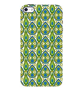 PrintDhaba Pattern D-5407 Back Case Cover for APPLE IPHONE 4S (Multi-Coloured)