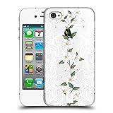 Head Case Designs Weisse Pfingstrose Blumen und Spitze Ruckseite Hülle für Apple iPhone 4/iPhone 4S