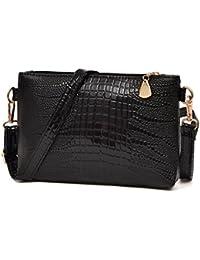Sac à bandoulière, LHWY Les femmes petit fourre-tout sac à main crocodile modèle bandoulière sacs à main