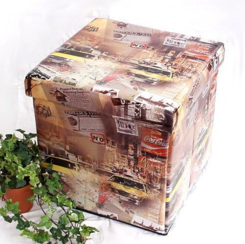 Sgabello in similpelle Seduta-sgabello 2009 Pacco d'imballaggio 40cm Cubo-seduta Cassa Cesto