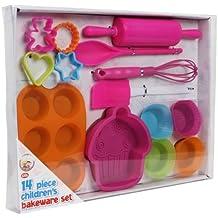 Nuevo We Can Cook para habitación infantil 14 piezas Molde de horno para rosa Kit de