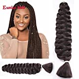 6 Packs Eunice Hair Jumbo Flechten Hair Extensions Braun Colorful Kunsthaar Kanekalon Haar für Heimwerker Crochet Box Zöpfe Deep Braun Color 165 g/pcs 100 cm (#4)
