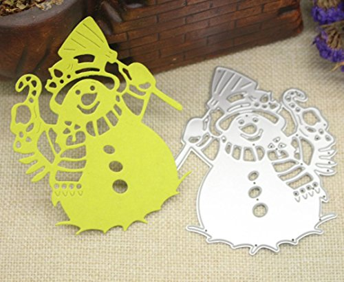 TWIFER Merry Christmas 3D Carbon Stahl Schön Stanzschablonen Metall Schneiden Schablonen für DIY Scrapbooking Album, Schneiden Schablonen Papier Karten Sammelalbum Dekor (1PC, (Kostüme Bereit Bildschirm)