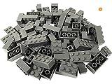 LEGO - 100 Legosteine in Verschiedenen Größen - Seltene Steine Enthalten! - Neuware (Dunkelgrau)