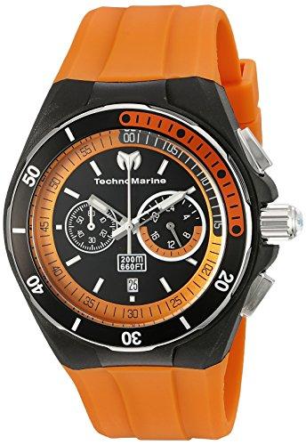 TechnoMarine TM-115161 - Reloj de Cuarzo para Hombres, Color Naranja