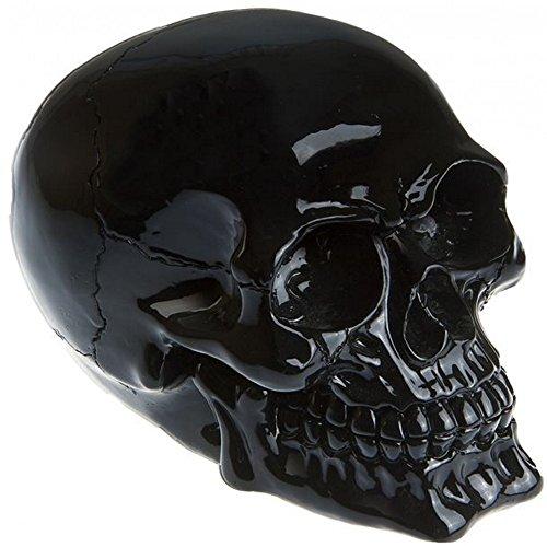 Deko Totenschädel Totenkopf Skull Schwarz Gothic Halloween Dekoration -