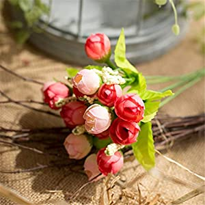 AVXZK 10 Hersteller großhandel frühling 15 Sterne Knochen Blume kleine Tee Knochen Blume Rose knospe Perle Knochen Blume künstliche Blume Kunststoff Blume Knochen Blume frühling Farbe Pulver