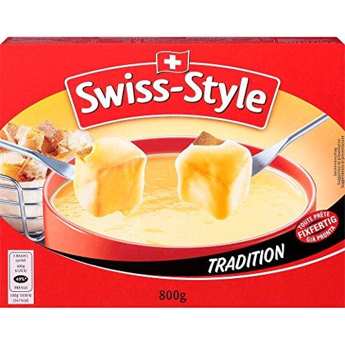 Fondue-Käse 'Swiss Style' von MIFROMA - 2x 400g, aus Emmentaler, dem Greyerzer (Gruyère) und dem Tilsiter, für einen gemütlichen Fondue-Abend